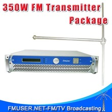 FMUSER FSN-350 300w 350w 2U Professional FM BroadcastRadioTransmitter exciter + FU-DV1 Dipole antenna +20M 1/2'' CABLE