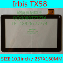 10.1inch for Irbis TX58 TX59 tablet pc external capacitive touch screen capacitance panel