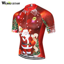 Christmas MTB Bike Jersey men's Cycling Clothes Clothing 2017 Jersey Riding bicycle Top Maillot T-shirts sports Blouse Red(China)