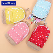 1 PC Dot Pattern Pencil Case Big Capacity Pencil Bag Cute Simple Pencil Box School Stationery Supplies(China)