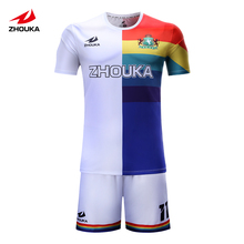sublimation personal custom football jersey custom football individual design(China)