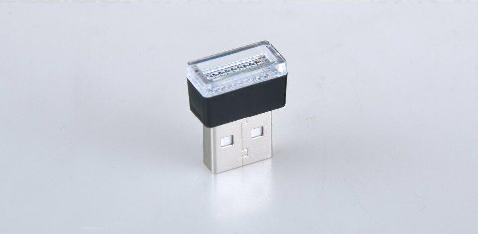Mini Wireless Car Atmosphere Light LED USB Night Light Cigarette Lighter Decorative Lights Car Styling Truck PC Laptops Kit (11)
