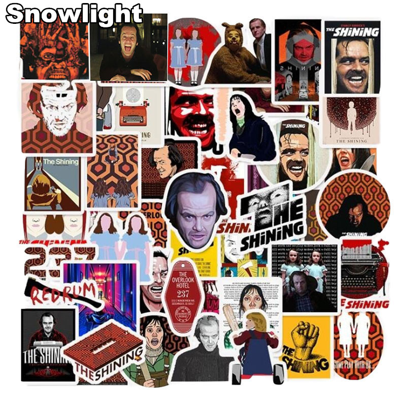 50Pcs The Shining Horror Cool Movie Stickers For Skateboard Luggage Laptop Motorcycle Car Styling Graffiti Waterproof Sticker