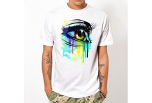 Eye 3D Printed Men T-Shirt Psychedelic Trippy Pattern Leads To An All-Seeing Eye Vibrant Design Summer T Shirt Harajuku TEES