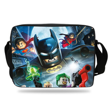 Cool Kids Cartoon Messenger Bag For Girls Boys School Batman Print Shoulder Bag For Children Boys Girls
