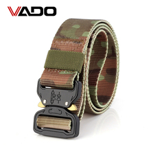 VADO Military Equipment Tactical Canvas Belt Men Nylon Metal Buckle Army Waist Belt High quality(China)