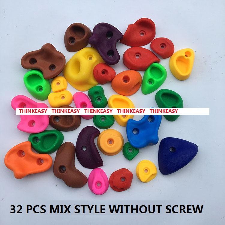 HTB1K iTRXXXXXbHapXXq6xXFXXXY - 16 to 32 PCS / SET Plastic children Rock Climbing Wall Rock Stones Kids Toys Sports tool outdoor game kindergarten Without scre
