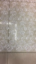 2017 Swiss voile lace white color  /african swiss lace fabric 5yards one piece for wedding dress