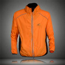 New Cycling Coat Mens Winter Windproof Road Bike Cycle Clothing Long Sleeve Jersey Wind Rain Waterproof Jacket Orange