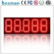 Leeman gas station led price sign wifi 3g wireless 12inch gas station digital gas price led sign ,digital price display board