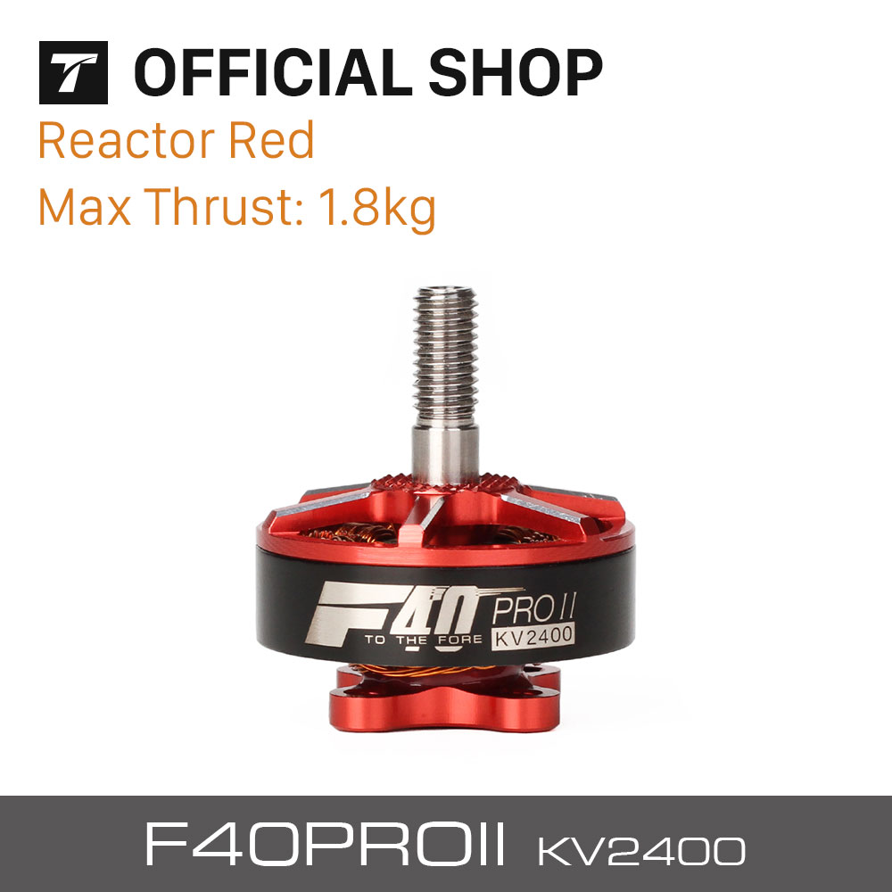 T-motor Professional F40 PRO II 2400KV Brushless Electrical Motor Reactor Red For VTOL RC Drones Motor <br>