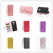 For LG G5 Original High Quality Cartoon carriage crystal Bling shining love heart valentine flip lady phone case card slot cheap