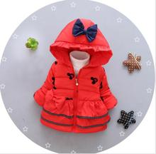 2017 New cheapest 0-24month high quality baby girl's winter snow wear infant cute hoodies JF0010(China)