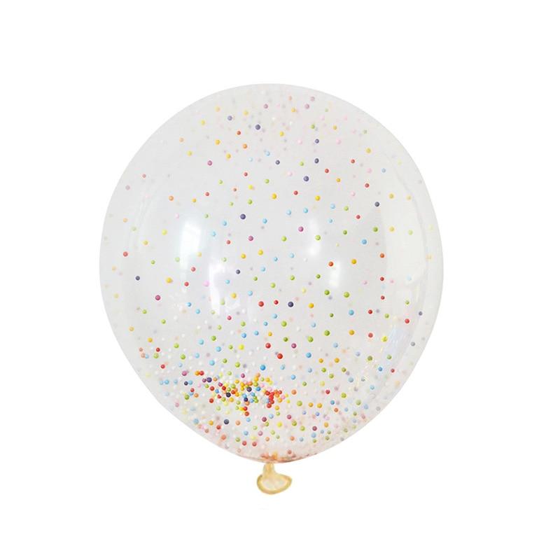 5pcs 12inch Balloon Party Wedding Decoration Multicolor Confetti Balloon Thickening Pear Ballons Decoration Birthday 15