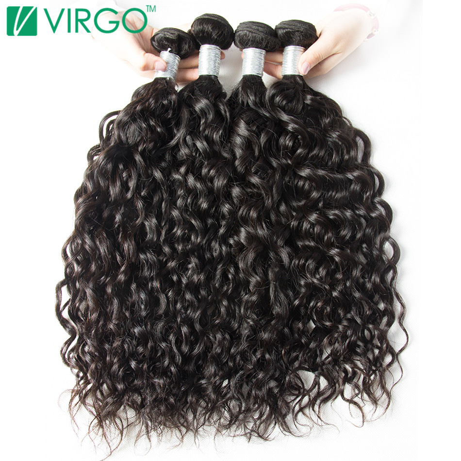 Volys Virgo Brazilian Water Wave Human Hair Extensions Remy Hair Weave Bundles Natural Black 1 Piece/Lot Can Buy 3/4/5 Bundles(China)