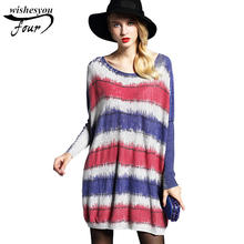 Spring Autumn new sexy Wool Plus Size Women's sweater flat Knitted Pullover Sweater slash  Neck Long Sleeve Top blusas AL041 30