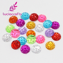 Lucia crafts 50pcs/lot Round Sew-on Stones Acrylic Flatback Rhinestones DIY Sewing Crystals 10mm 003018049