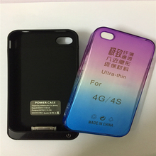 4000mah Battery Charger Case Cover For iPhone 4 4S 4G Portable Backup Power Bank Case Extend Battery Case With Slim Phone Case(China)