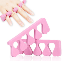random color toe and finger separator soft foam nail tools