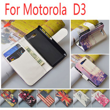 Fashion Design Cute Flip Leather case for Motorola RAZR D3 XT919 XT920 Wallet Cover with 2 ID Card Holder(China)