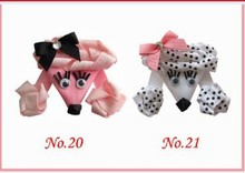 20pcs Beautiful Dog cat bear monkey ariel princess Bundle Monster Girl Ribbon Mixed Design Hair Clip Free shippin