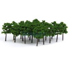New Arrivals 2015 Plastic Model Trees Train Railroad Scenery 1:250 40pcs Dark Green Free Shipping