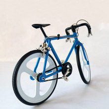 diy miniature assembled metal interesting bicycle model mountain bike bicycle toys for children kids birthday Christmas gift