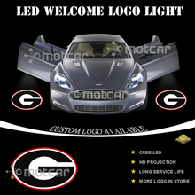 Car Door Step Courtesy Welcome Light Projector Laser Georgia Bulldogs GOBO Logo Light Ghost Shadow Puddle Emblem LED Spotlight(China)