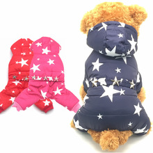 KING-S PET Dogs Pets Clothing Coat Jacket Teddy Chihuahua More Stars Clothes Small Dogs Four Legs Puppy Leisure Style Size S-XXL