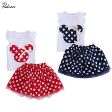 New Kids Baby Girls Minnie Mouse Clothing Set Polka Dot Party Cami Children Clothes Sets 1-4 Year Tracksuit Set Hot Sale