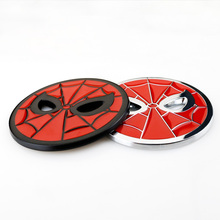 7cm Top Quality Chrome Metal Zinc Thick Red Spideman Badge Emblem Car Styling Film Hero Dody Fuel Cap Decoration Logo 3D Sticker(China)