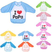Cute Baby Bib Toddler Waterproof Long Sleeve Bibs Children Kids Feeding Smock Aprone New Hot Fashion(China)