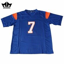MM MASMIG Blue Mountain State Alex Moran 7 American Football Jersey Blue