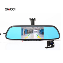 "Sacci Q5 5"" Dedicated Car DVR Rearview Mirror NT96658 AR0330 dual lens Registrator Dash Camera Cam Video Recorder DVRS"