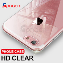 Buy GPNACN Ultra Thin Soft Transparent TPU Case iPhone X 8 7 Plus Silicone Full Cover iPhone 7 6 6S Plus X Phone Case Capa for $1.49 in AliExpress store