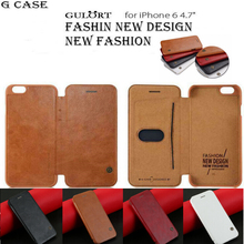 G case! Original Brand Logo  Luxury cover Wallet Card Case for iphone6/6s  4.7 Genuine Leather gulort Case gift