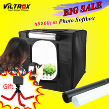 Viltrox 60*60cm LED Photo Studio Softbox Shooting Light Tent Soft Box + Portable Bag + AC Adapter for Jewelry Toys Shoting(China)