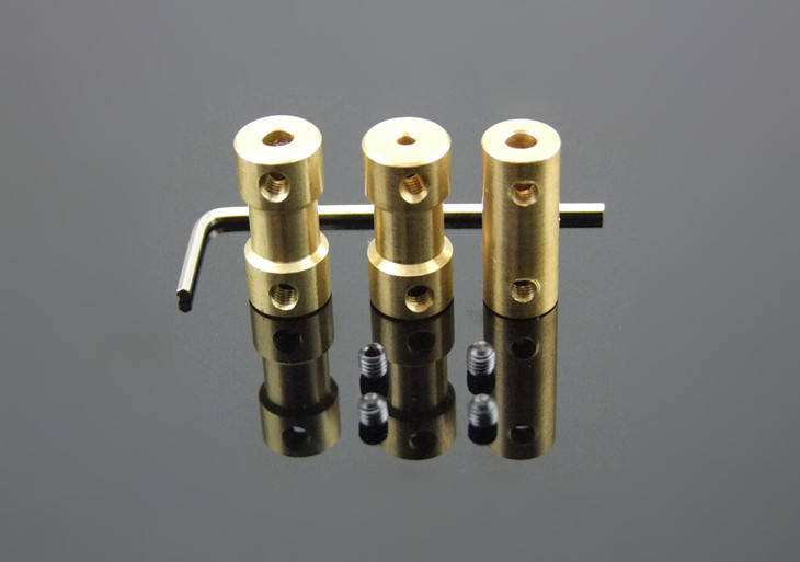 1pcs K546 Copper Shaft Connector Coupling Coupler Shaft To Shaft 22 Styles DIY Toy Car Boat Helicopter Parts Model Airplane<br><br>Aliexpress