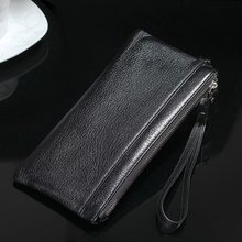 Removable Multi-function Zipper 100% Genuine Leather Wallet Case Handbag For iphone 4s 5 5S SE 6 6S 7 Plus for Samsung S7 S6 S5
