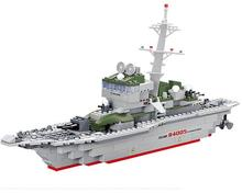 Military Ship Model Building Blocks Kids Toys Imitation Gun Weapon Equipment Technic Designer toys for kid dropshipping(China)