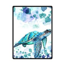 "High Quality And Comfortable Sea Turtle Custom Blanket 58"" x 80"" (Large)"