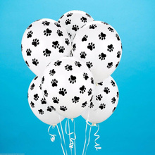20 Pcs Paws Print Dog Party Balloons Latex Balloons Birthday Party Balloon Patrolling Toys Decoration Party Supplies Kids Gif(China)