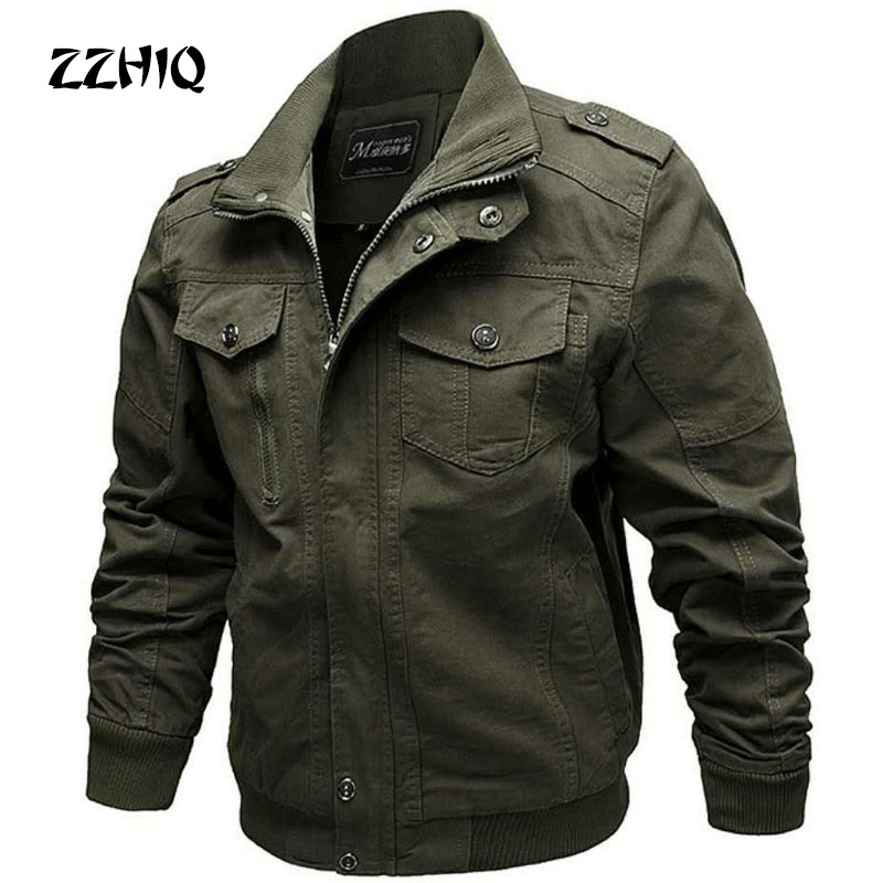 ESDY Military Jacket Men Autumn Winter Cotton Jacket Coat Army Men's Pilot Jacket Air Force Casual Cargo Jaqueta Plus Size M-6XL