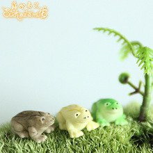 Resin Furniture Home Garden Decoration Kawaii Frog Mini Garden Accessories Simulation Animals Craft Outdoor Furniture Decorative(China)