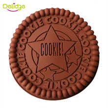 1pc 22cm Round Silicone Cake Pan Big Cookie Silicon Baking Mold Biscuit Chocolate Fondant Cake Decorating Tools(China)