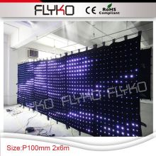 Free shipping Buy from china curtain display soft led curtain videos wholesale chin P10 2x6m(China)