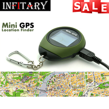 2016 hot sale Mini GPS Receiver Handheld Location Finder USB Rechargeable with Compass for Outdoor Sport Travel free shipping