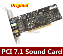Free shipping  Original CREATIVE LABS SOUND CARD BLASTER SB0410 PCI 7.1 24Bit sound card  SB0410