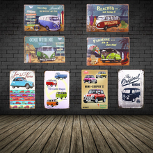 [Toctop] Metal Tin signs VW Garage signs Poster Combi Bus Van Tin Sign Art Print Poster Wall Decor