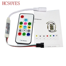 HCSOYES DC5V/12v WS2801 WS2812B DC12V 2811 SP103E Mini Digital RGB LED Strip Controller 14Key RF Wireless Remote 2048 Pixels(China)